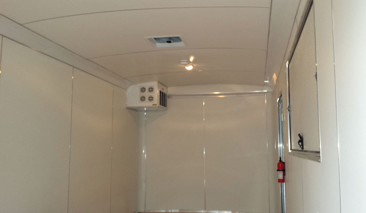Food Trailer - White Vinyl Walls and Ceiling